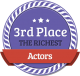 3rd Richest Actor