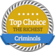 High Position of Wealth in Richest Criminals