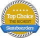 High Position of Wealth in Richest Skateboarders