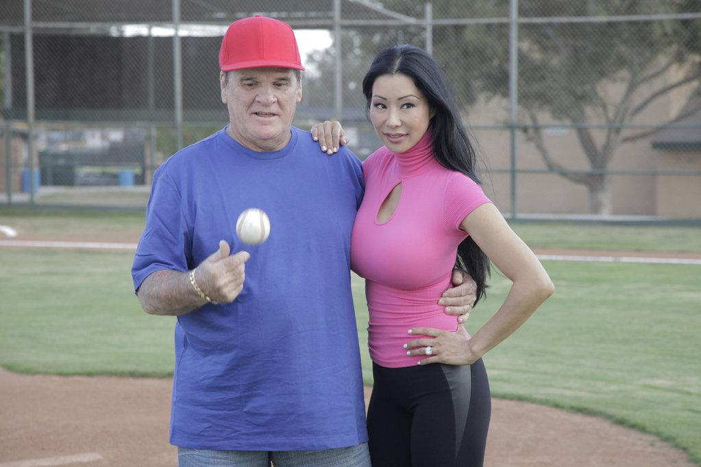 Pete Rose and Kiana Kim