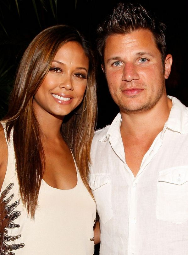 Nick Lachey with hot, endearing, charming, Wife Vanessa Minnillo
