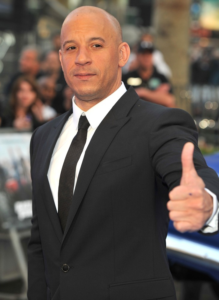 The 50-year old son of father Irving Vincent and mother Delora Vincent, 183 cm tall Vin Diesel in 2018 photo