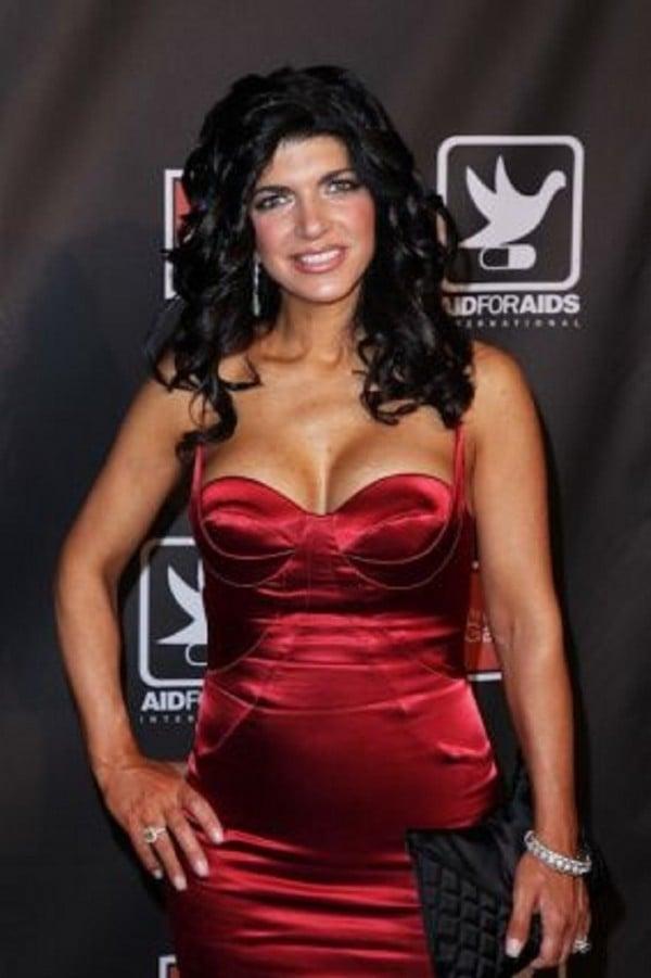 Teresa Giudice red dress