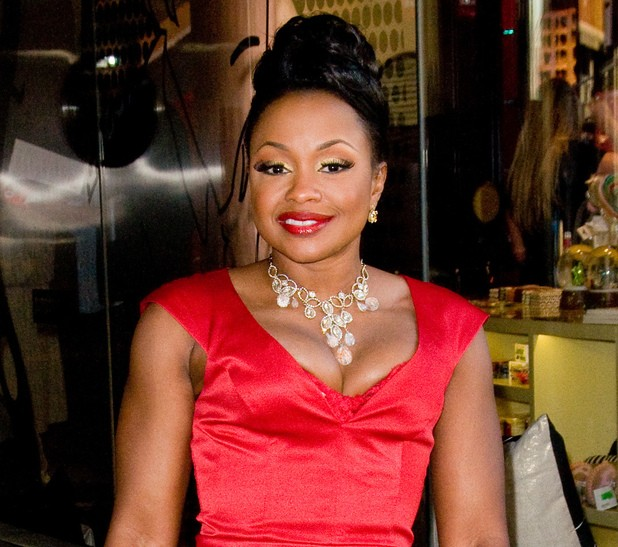 Phaedra Parks red dress