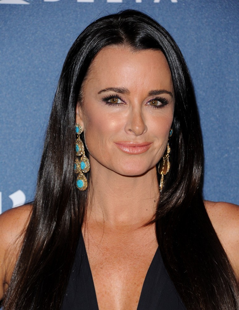 Kyle Richards black dress