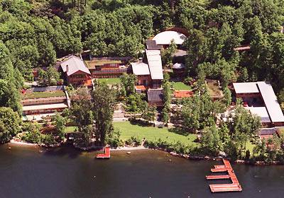 aerial view of Bill Gates home