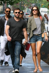Alessandra Ambrosio and Husband Jamie Mazur Walking