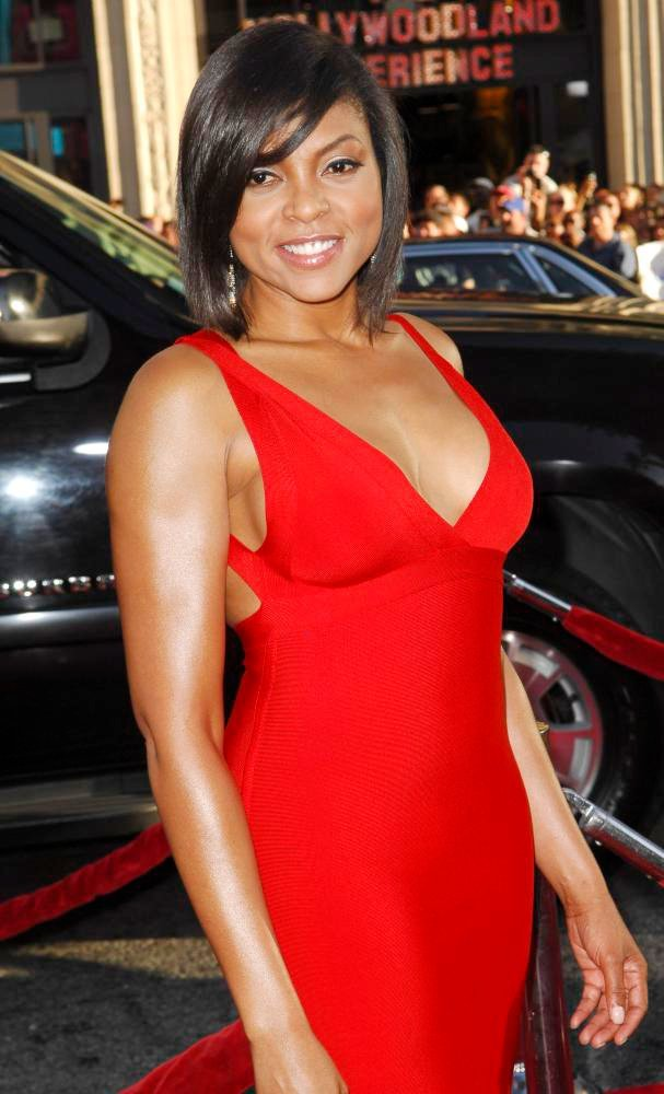 Taraji P. Henson red dress