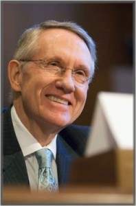 How much does a senator like Harry Reid make in Salary