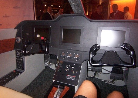 cockpit inside a Access Custom Jet