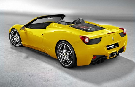 back pic of Ferrari 458 Spider