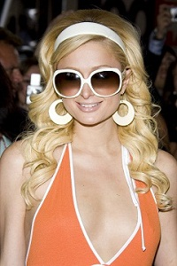Paris Hilton wearing giant sunglasses
