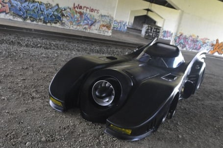 front view of real jet turbine Batmobile