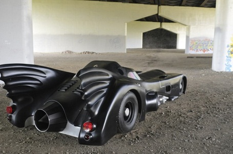 rear view of real jet turbine Batmobile