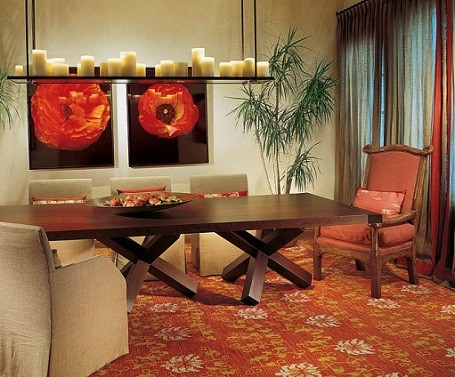 Dining room in Camille Grammer's Colorado home