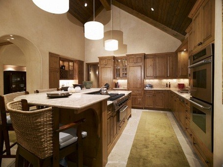 Kitchen in Camille Grammer's Colorado home