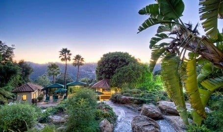 View from Mark Wahlberg's Beverly Hills Estate