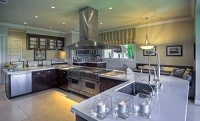 Kitchen in Mark Wahlberg's Beverly Hills Estate