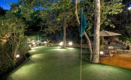 Putting green at Mark Wahlberg's Beverly Hills Estate