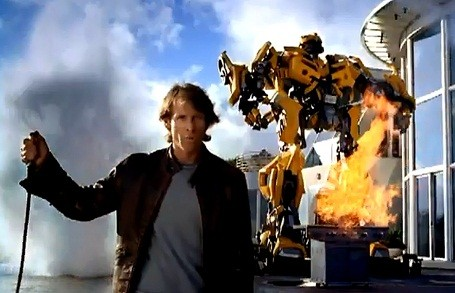 Michael Bay having some transformers over for a BBQ