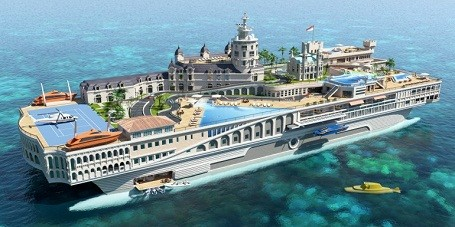 The Streets Of Monaco Themed Mega Yacht