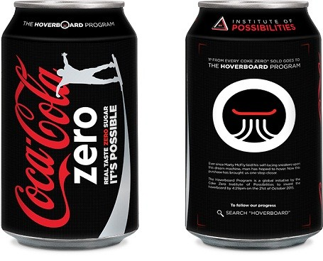 Coke Zero can design for the Hoverboard Program