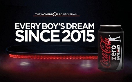 coke zero hoverboard program print ad