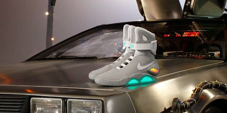 "NIke Air Mags and the ""Back to The Future"" DeLorean"