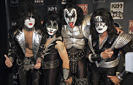 Frontman and bassist Gene Simmons and KISS