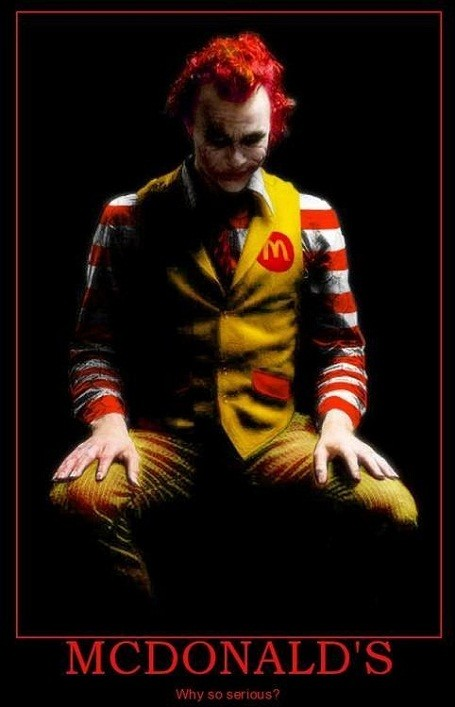 Ronald McDonald as Batman's Joker