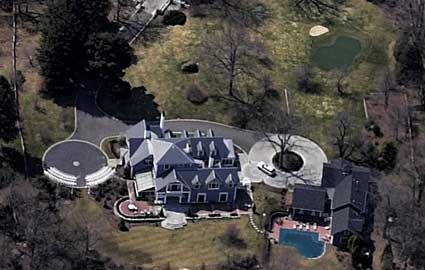 Aerial view of Tom Brady and Gisele's Boston mansion