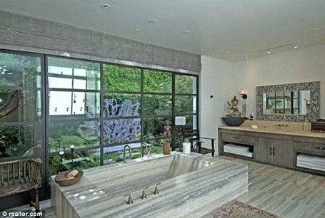 Bathroom in Ellen DeGeneres and Portia De Rossi's Beverly Hills home