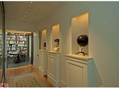 Ellen DeGeneres and Portia De Rossi's library in their Beverly Hills home