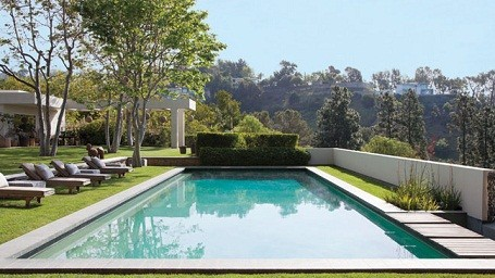 Pool at Ellen DeGeneres and Portia De Rossi's Beverly Hills home