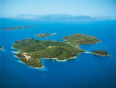 The private island of Skorpios has been left unspoiled by development