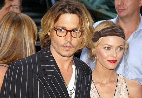 Johnny Depp and partner Vanessa Paradis