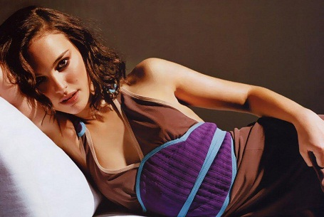 Natalie Portman posing in a dress