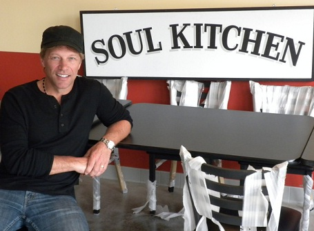 Jon Bon Jovi and has opened a charity restaurant called the JBJ Soul Kitchen