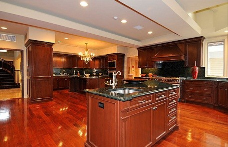 Kitchen in 50 Cent's home in Farmington, Connecticut