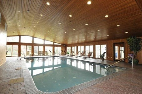 Indoor pool inside 50 Cent's home in Farmington, Connecticut.