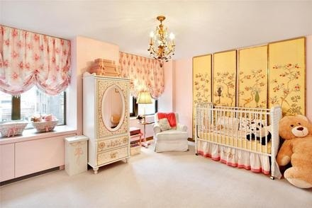 Nursery in Jennifer Aniston's new condo at Gramercy Park in Manhattan, NYC