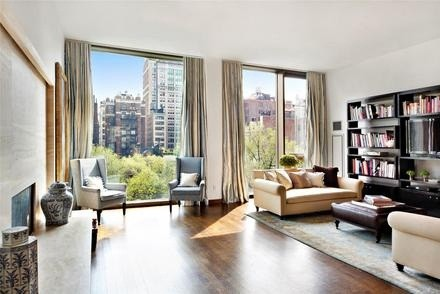 Jennifer Aniston's living room in her Gramercy Park condo in Manhattan, New York City