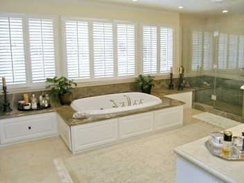 Bathroom in Jonah Hill's Tarzana home in California
