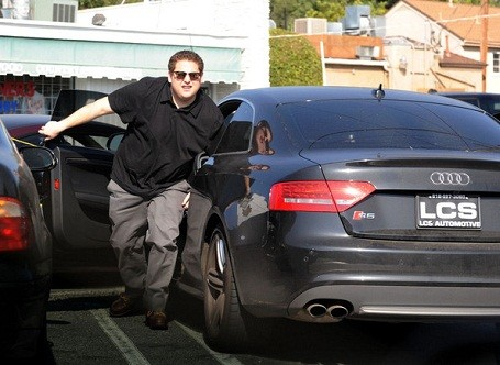 Moneyball actor Jonah Hill drives an Audi S5 coupe