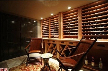 Matt Groening's wine cellar in his Santa Monica house