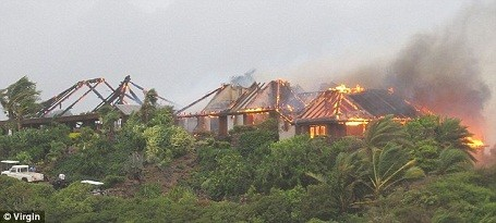 A fire destroyed the Necker Island resort, but Richard Branson rebuilt it.