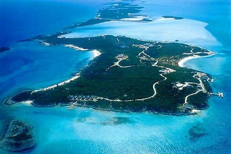 David Copperfield's private island, Musha Cay, in the Bahamas.