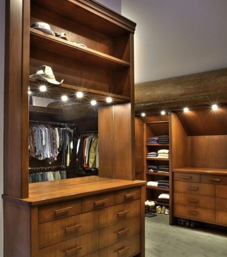 Walk-in closet in Bruce Willis's master bedroom.