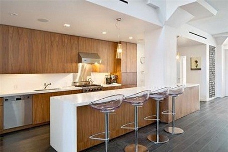 Damon Dash's kitchen in his foreclosed Tribeca loft, in New York City.