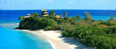 Bali beach on Richard Branson's Necker Island